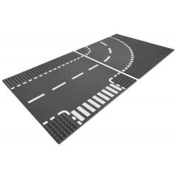 LEGO 7281 Křižovatka ve tvaru T a zatáčky